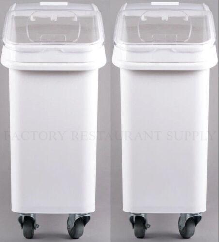 2 PACK Dry Ingredient 21 Gallon Storage Bin Caster Commercial Restaurant Kitchen