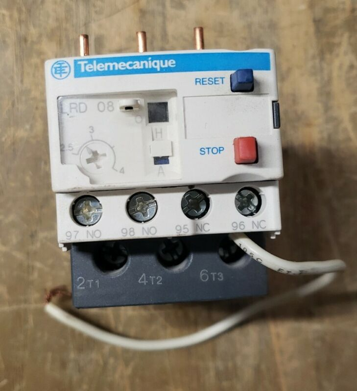 Schneider Electric Telemecanique Overload Relay LRD 08 1Z-1767-G30
