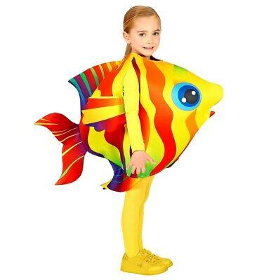 WIM 00045 Kinder Jungen Mädchen Kostüm Tropenfisch Fisch Bunt 116-128 4-7 - Kind Fischer Kostüm