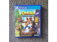 PS4 Crash Bandicoot Trilogy in mint condition like new will SWAP for other games