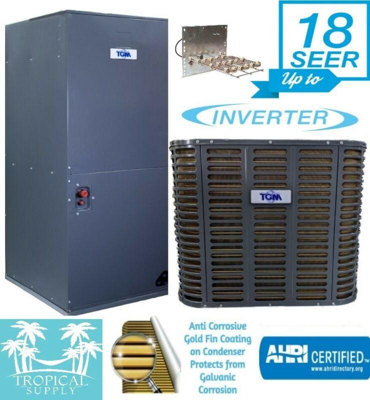 5 Ton 18 Seer AC Inverter Split System Condenser & Air Handler With Heat Strip