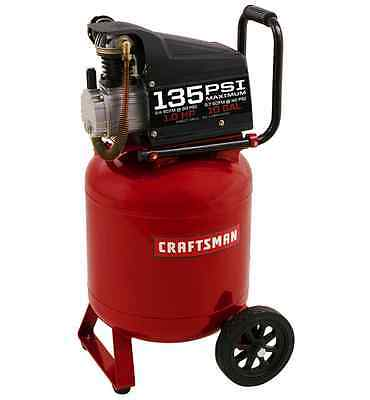Craftsman 10 Gallon Portable Air Compressor 1.0 Hp 15a 135 Max Psi Vertical Pump