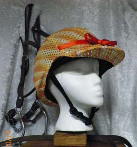 Hunt Helmet Cover English/Hunt  Orange Yellow White Confetti Dot