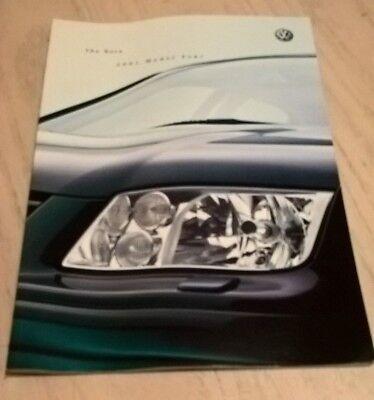 Volkswagen Bora Car Product Catalogue Brochure 2001   Book  Booklet