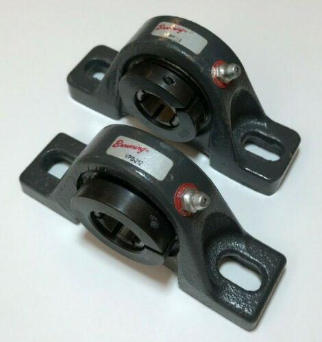 Pillow block bearings used BROWNING VPB-212 0.75 dia shaft BOA locking