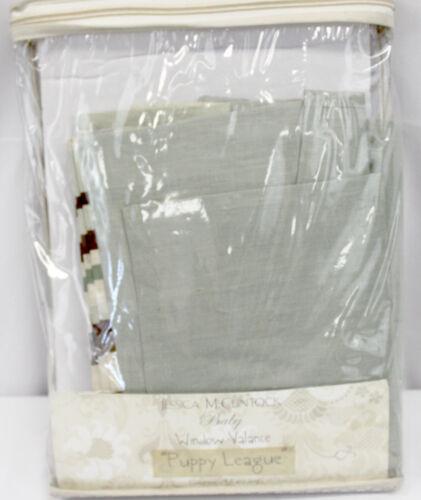 New Jessica McClintock Adorable PUPPY LEAGUE Collection WINDOW VALANCE NIP