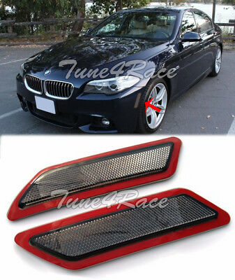 For 12-Up BMW F10 5-Series Smoke Side Bumper Reflector Lights M Sport Package (5 Series Smoked Fender)