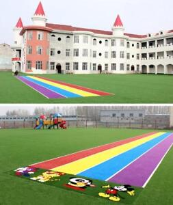 41*3.2ft (12.5m*1m) Artificial Plant Rainbow Runway Artificial Lawn 021323/