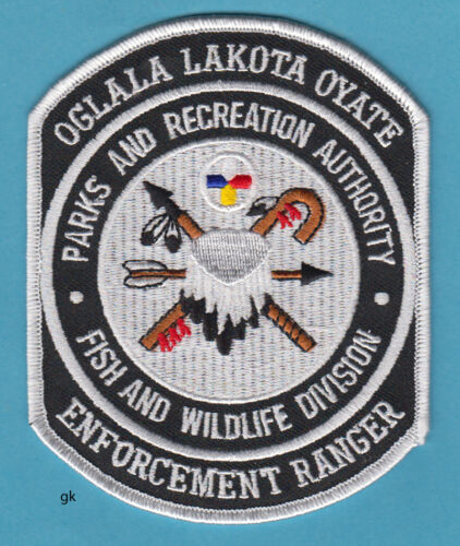 OGLALA LAKOTA OYATE FISH AND WILDLIFE DIVISION TRIBAL POLICE SHOULDER PATCH