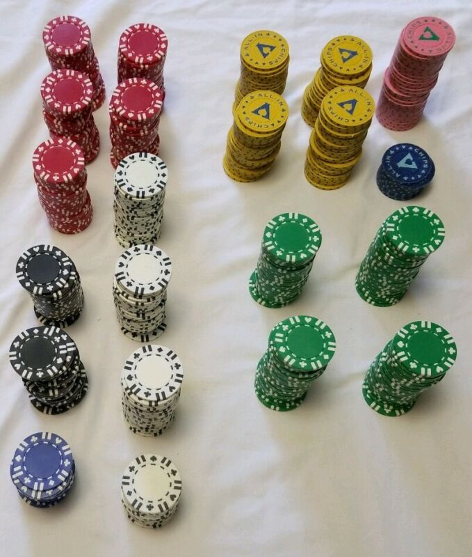 Clay Composite Poker Gambling CHIPS lot of 496
