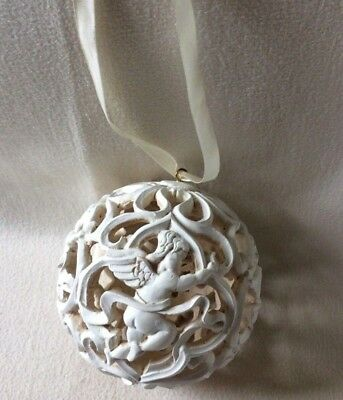 ANGELS BALL ORNAMENT Victorian Christmas Tree Hang From Ceiling, Doorway