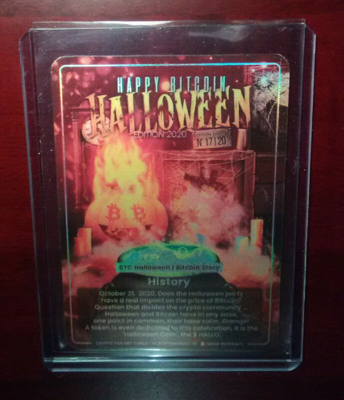 Only 20 - RARE 2020 Crypto manic Bitcoin Halloween Limited Edition Card #17/20