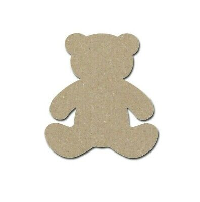 Teddy Bear Shape Unfinished Wooden MDF Animal Cut Outs Variety Of Sizes ](Wooden Animal Cutouts)