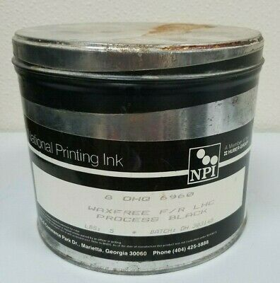 New 5 Lb. Can National Printing Ink Oil Base Wax Free Black Offset Printing Ink