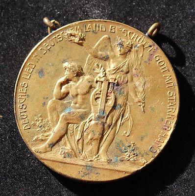 Alte große Medaille / Abzeichen Sängerfest in Minden 1913 / Durchmesser 50mm