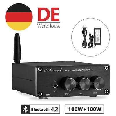 Mini Stereo Verstärker Bluetooth Digital Power Amplifier HiFi Audio Amp Schwarz