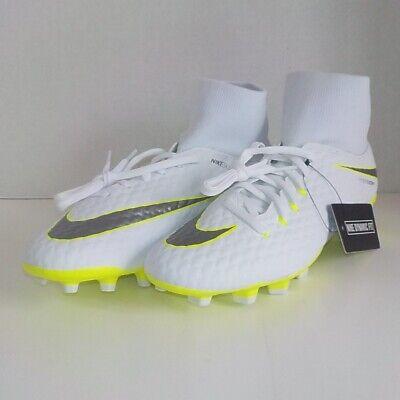 fe272d3a1 Nike HYPERVENOM PHANTOM 3 ACADEMY DF Soccer Cleats WHITE VOLT AH7268 107  SIZE 9