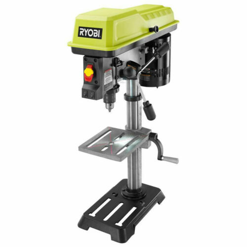 RYOBI 10 inch Portable Bench Drill Press w Laser Variable Speed Woodworking Tool