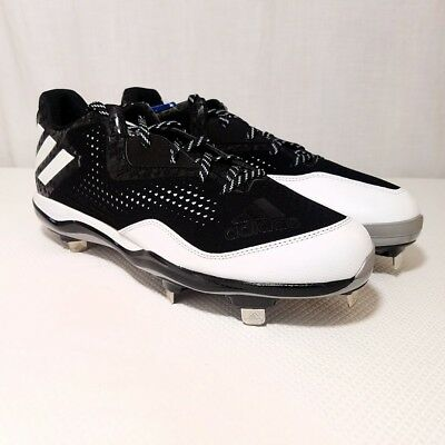 374d6fd00fe9 Adidas PowerAlley 4 Baseball Cleats Metal Softball Low Q16481 Black Size US  13
