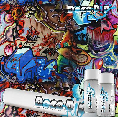 Graffiti Hydrographic Hydro Deco Dip Dipping Film Kit W Activator Film Ll505
