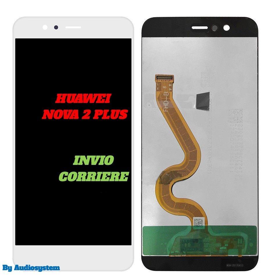 DISPLAY LCD +TOUCH SCREEN per HUAWEI NOVA 2 PLUS BAC-AL00 L21 BIANCO VETRO TL00