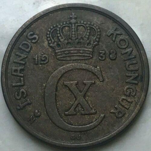 1938 Iceland 2 Aurar - Key Date