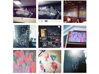 Mural Artist, Blackboard Painter, Commissioned work and Illustration LONDON