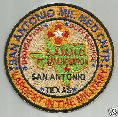 Us Army Post Patch  San Antonio Mil Med Cntr  S A M M C  Ft Sam Houston        Y