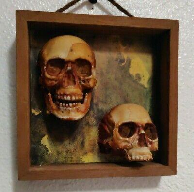 OOAK Nine Inch Nails Goth Industrial Skinny Puppy Rustic Primitive Rare skull