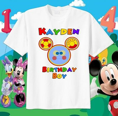 OH TOODLES Face Mickey Mouse Clubhouse Custom t-shirt Personalize Birthday gift