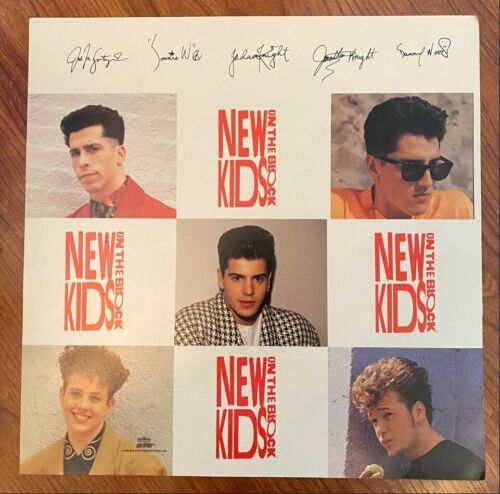 "Vintage & Original 1990 New Kids On The Block NKOTB 15"" Square Poster Old Stock"