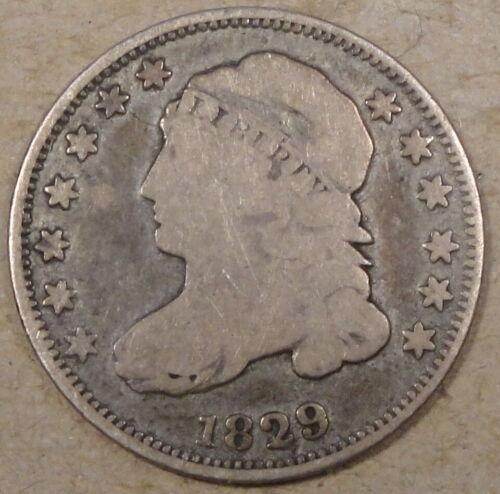 1829 Capped Bust Dime VG
