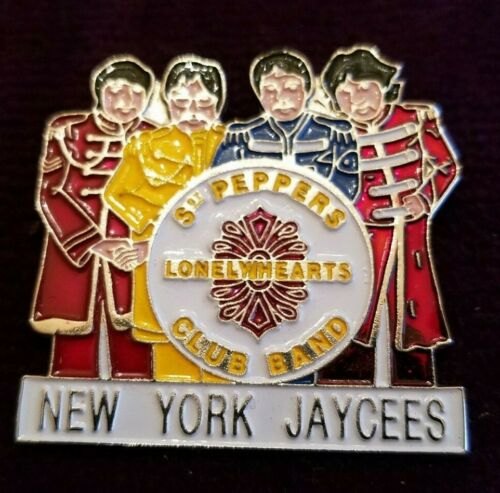 Jaycee Pin Rare NY Sgt Peppers Lonely Hearts Club Band, Beatles, New Old Stock