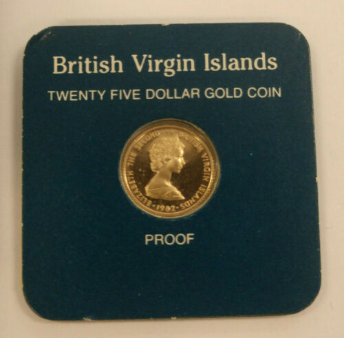 1982 British Virgin Islands $25 Dollar Gold Proof Coin - Franklin Mint
