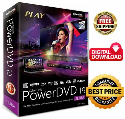 CyberLink PowerDVD Ultra 19 Full Version 64bit Lifetime License Instant Delivery