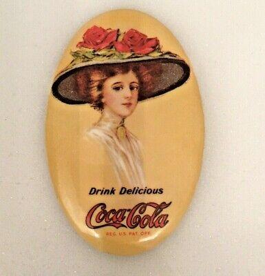 Vintage Coca-Cola Oval Compact Mirror