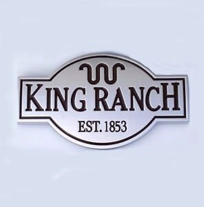 1 OEM King Ranch Emblem Badge 3D Door Tailgate S for F150 F250 F350 W Silver