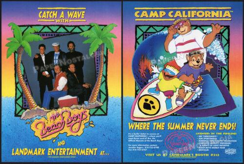 THE BEACH BOYS - CAMP CALIFORNIA__Orig. 1991 Trade AD / licensing ADVERT_cartoon