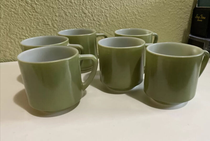 VTG Federal Sage Green Coffee Cup Mug Heat Proof With D Handle  6