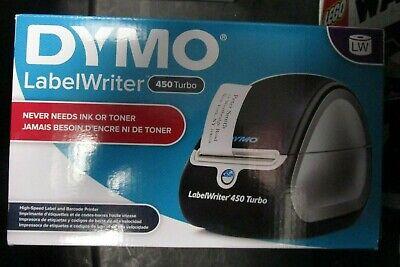 Dymo Labelwriter 450 Turbo Label Thermal Printer - Black 1752265 Brand New