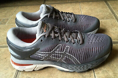 Asics Gel Kayano 25 Running Shoes Carbon Mid Grey Women Size 5.5