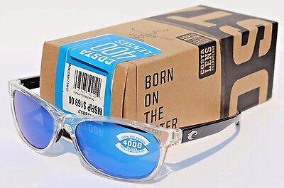 COSTA DEL MAR Prop POLARIZED Sunglasses Black Pearl/Blue Mirror 400G NEW (Costa Prop)