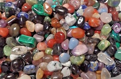 BULK 1 LB IMPERFECT TUMBLED STONES Flaws Chips Cracks Crystal Mineral - 1 Lb Tumbled Stones