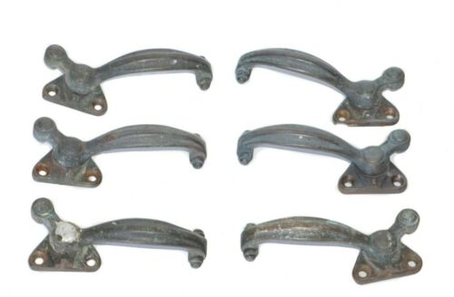 Antique Bronze Casement Window Latches Handles (6) Art Nouveau