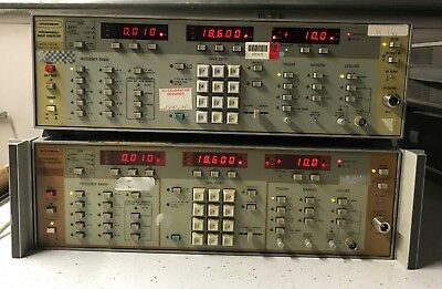 Wiltron 6647a Programable Sweep Generator 10mhz-18.6ghz Opt 03 Lot Of 2