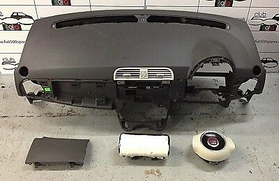 fiat 500 airbag kit dash steering wheel airbag knee airbag and passenger airbag