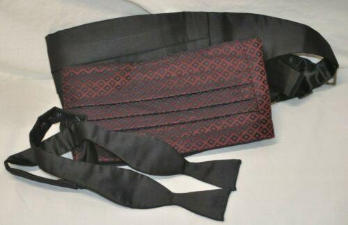 Tuxedo Formal Tie and Cummerbund Set Lot Nieman Marcus Carrot & Gibbs