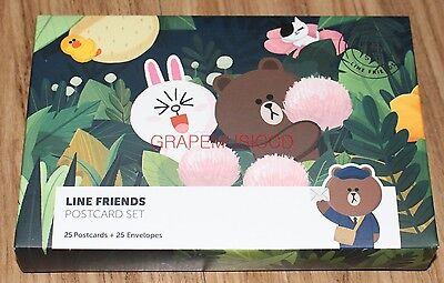 Line Friends Naver Official Goods Postcard Set New