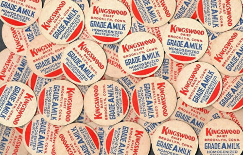Lot of 100 Kingswood Dairy Milk Bottle Caps Brooklyn, CT