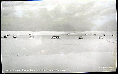 1940S Rppc   White Sands National Monument New Mexico Picnic Tables   Rppc
